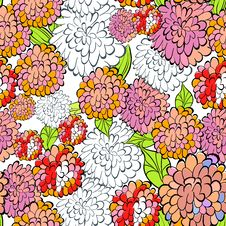 Free Decorative Floral Seamless Wallpaper Stock Image - 21210311