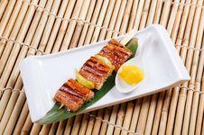 Free Japanese Skewered  Seafoods Stock Image - 21210341