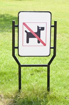 No Dogs Pets Allowed Warning Sign Royalty Free Stock Photography
