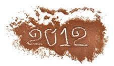 Free 2012 Written On Coffee Mill Background Stock Photo - 21210700