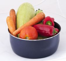 Free Various Vegetables In A Pot Royalty Free Stock Photo - 21211185