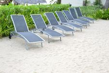 Free Beach Chair Royalty Free Stock Photography - 21211467