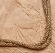 Free An Old Rope Tied In A Knot Royalty Free Stock Photo - 21211545