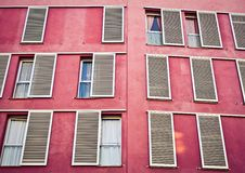 Free Windows On The Pink Wall Royalty Free Stock Photo - 21211985