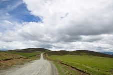 Free Grassland And Road Stock Image - 21212081