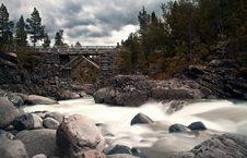 Free Bridge With River In Norway Royalty Free Stock Photos - 21212298