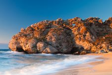 Free Sleeping Dragon Rock At The Sea Royalty Free Stock Images - 21212929