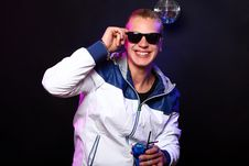 Free Young Stylish Guy In The Nightclub Royalty Free Stock Photography - 21213267