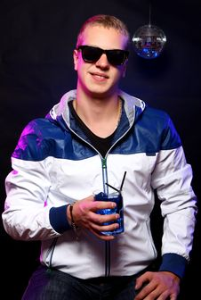 Free Young Stylish Guy In The Nightclub Royalty Free Stock Photos - 21213278
