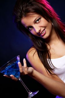Free Young And Beautiful Woman In The Nightclub Stock Photo - 21213460