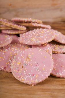 Free Sprinkled Cookies Royalty Free Stock Photos - 21214198