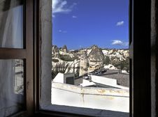Free View From Bedroom Over Goreme Village Royalty Free Stock Photo - 21214325