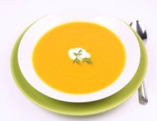 Free Pumpkin Soup Royalty Free Stock Photos - 21214418