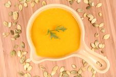 Free Pumpkin Soup Stock Photography - 21214452