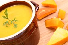 Free Pumpkin Soup Royalty Free Stock Photography - 21214517
