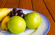 Free Tropical Fruits On Wood Table Stock Photo - 21214550