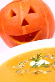 Free Pumpkin Soup Royalty Free Stock Image - 21214636