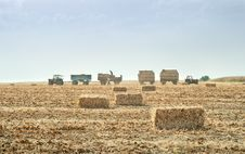 Free Straw Bales In Autumn Stock Photo - 21215390