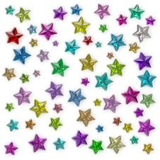 Free Glamour Colorful Star Stock Image - 21215521