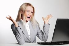 Free Business Woman Working On Laptop Royalty Free Stock Photo - 21216245