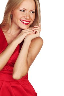 Free Woman In Red Royalty Free Stock Photo - 21216855