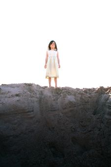 Free Girl On Hill Stock Photo - 21217100