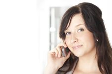 Free Businesswoman Talking On Cell Phone Royalty Free Stock Images - 21217429