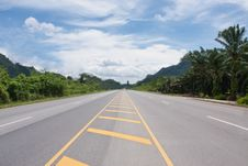 Contry Road In Thailand Stock Image