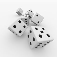 Free White Dices Royalty Free Stock Photos - 21218208