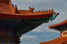Free Roof Of Lengnoeiyi Chinese Temple Stock Images - 21218724