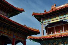 Free Roof Of Lengnoeiyi Chinese Temple Royalty Free Stock Image - 21218866