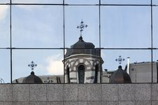 Church Reflected - RAW Format Stock Photos
