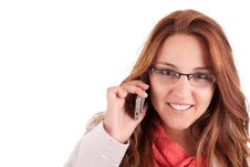 Free Woman On The Phone Royalty Free Stock Images - 21219529
