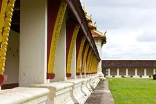 Free The Gallery From Thad Luang Pagoda In Vientiane Royalty Free Stock Images - 21219649