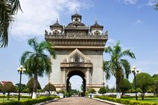 Free The Victory Gate In Vientiane, Laos Royalty Free Stock Image - 21219686