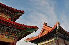Free Roof Of Lengnoeiyi Chinese Temple Royalty Free Stock Image - 21219816