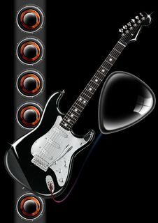 Free Guitar Cover Stock Photography - 21219882