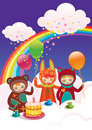 Free Birthday With Friends Royalty Free Stock Photo - 21223575