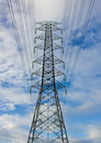 Free Close-up High Voltage Tower On Blue Sky Royalty Free Stock Images - 21225999