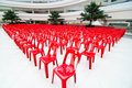 Free Red Empty Chairs Royalty Free Stock Photo - 21227505