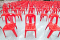 Free Red Empty Chairs Stock Images - 21227544