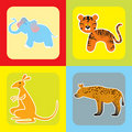 Free Set Of Cute African Animals -2 Royalty Free Stock Images - 21228039