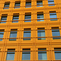 Free Yellow Wall Of A Modern Building Royalty Free Stock Image - 21228946
