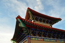 Free Roof Of Lengnoeiyi Chinese Temple Royalty Free Stock Photo - 21220125