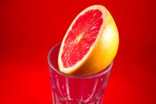 Free Grapefruit On Top Of Glass Stock Image - 21220651