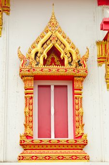 Free Traditional Thai Style Window Temple Royalty Free Stock Photo - 21220695