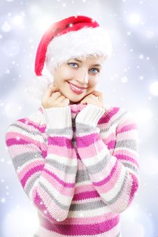 Free Santa Girl Stock Photos - 21221453