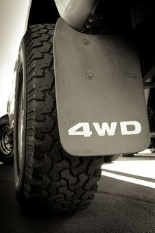 Free 4WD And Tire Stock Photography - 21221542