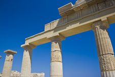 Free Ancient Temple Of Lindos Stock Photos - 21221553