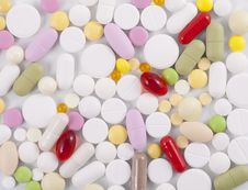 Free Background Of The Pills Royalty Free Stock Photo - 21222675